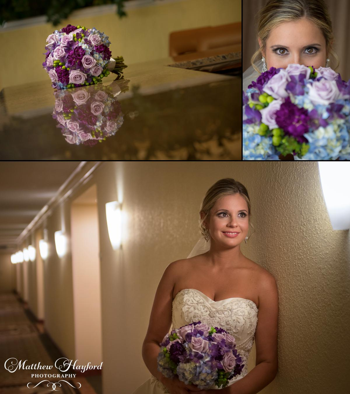 Bridal Portraits at the Hilton by Matthew Hayford Photography