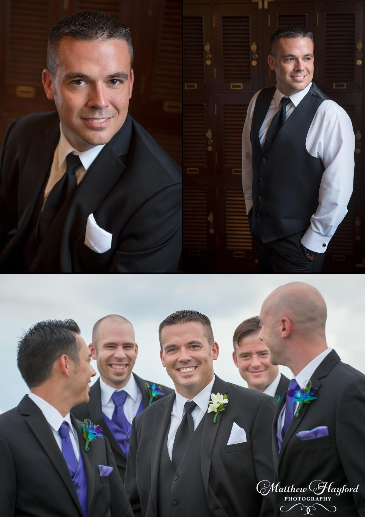 Groom Portraits The Royal Crest Room by Matthew Hayford Photography
