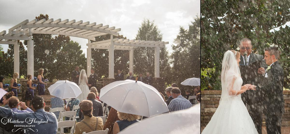 Rainy Ceremony at the Royal Crest Room by Matthew Hayford Photography