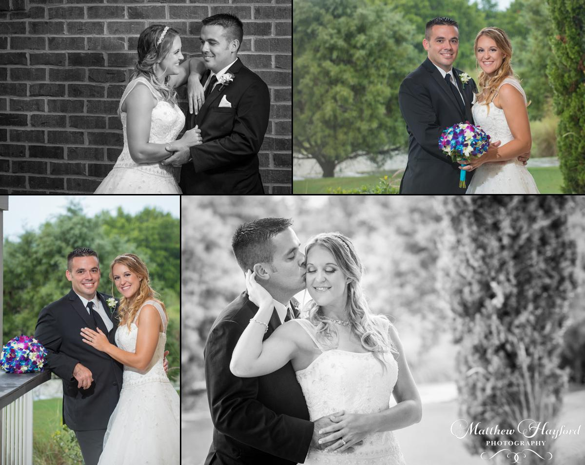 Rained Out Bride and Groom Photos by Matthew Hayford Photography