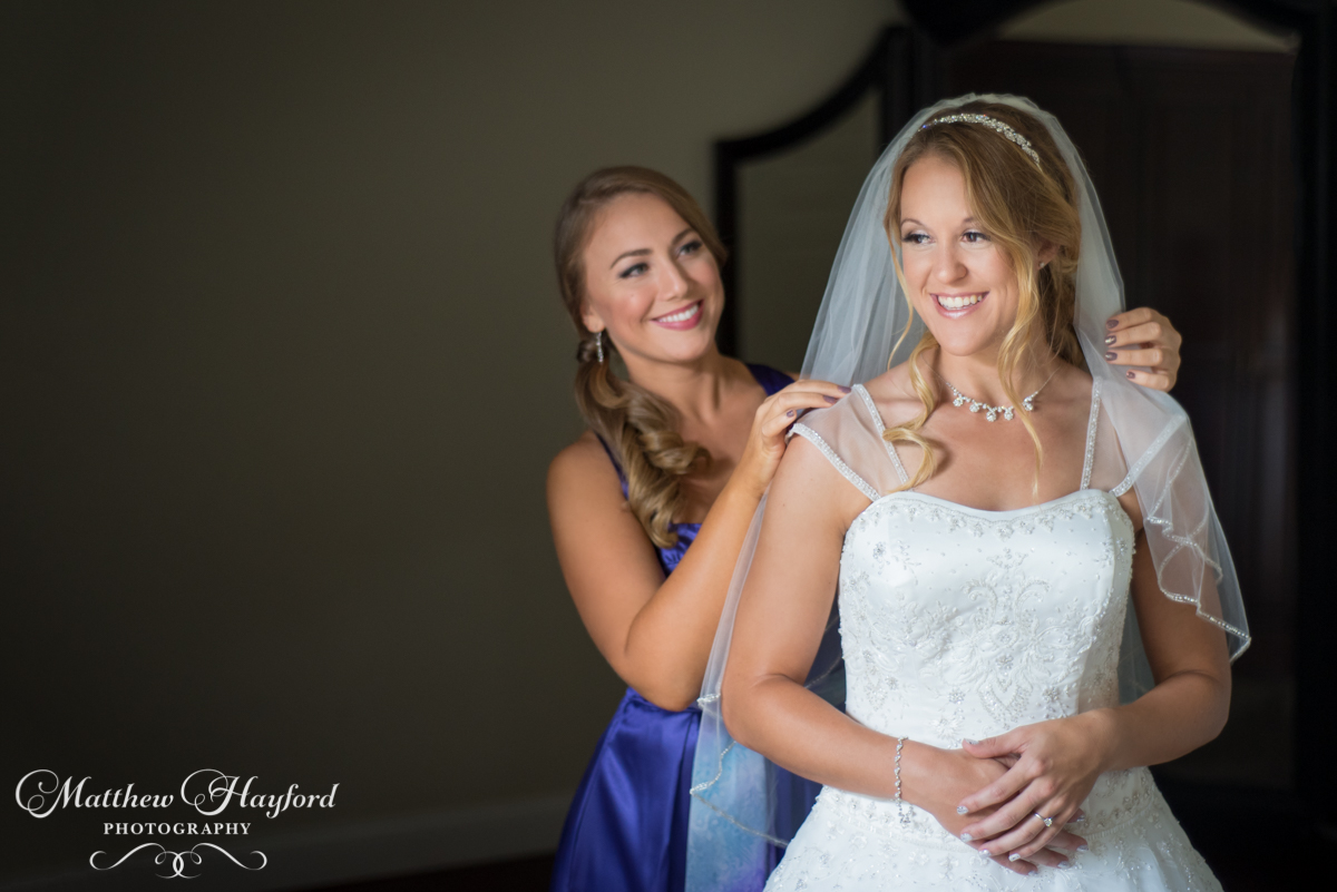 Bride and Bridesmaids Getting Ready by Matthew Hayford Photography
