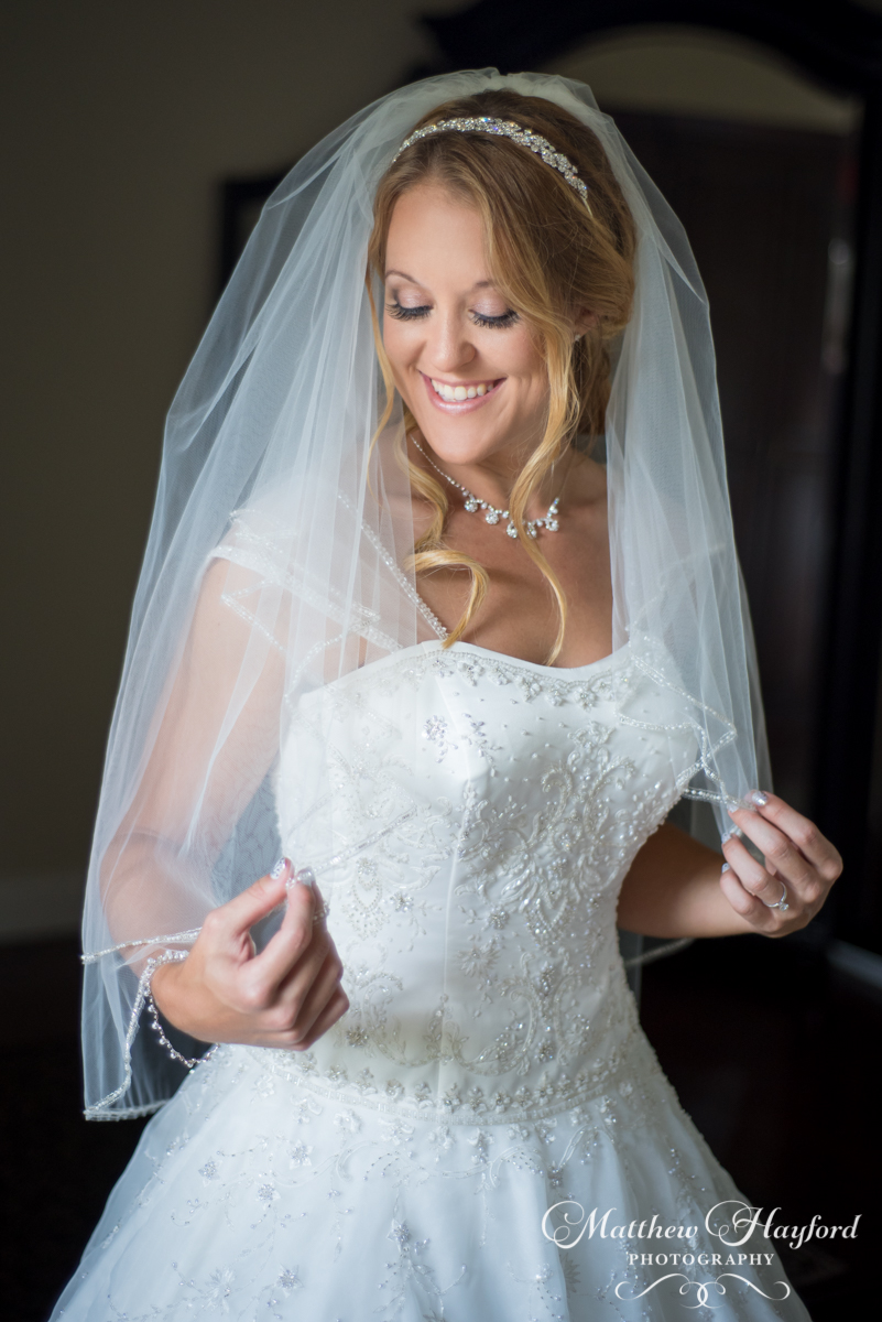 Bride Getting Ready at the Royal Crest Room by Matthew Hayford Photography